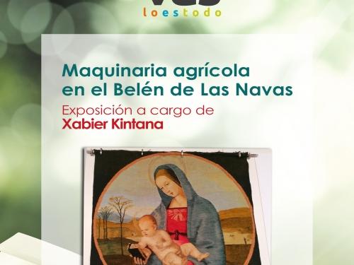 Maquinaría agrícola en el belén de Las Navas del Marqués