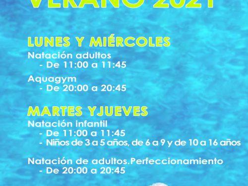 Actividades acuáticas verano 2021